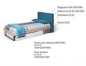 Кровать с мягким изголовьем G-11-5, фото 3