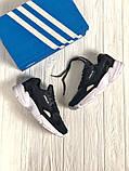 Мужские черные кроссовки в стиле Adidas Falcon (black/white), (Реплика ААА), фото 2