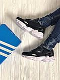 Мужские черные кроссовки в стиле Adidas Falcon (black/white), (Реплика ААА), фото 3