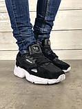 Мужские черные кроссовки в стиле Adidas Falcon (black/white), (Реплика ААА), фото 6