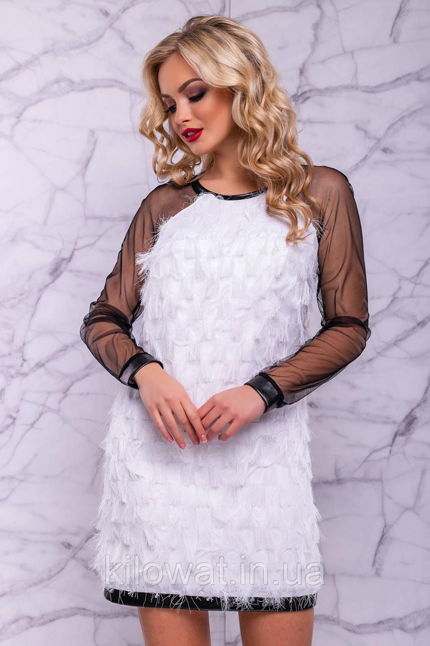 e21eb1c6b55 ✅ Коктейльное белое платье   Размер S