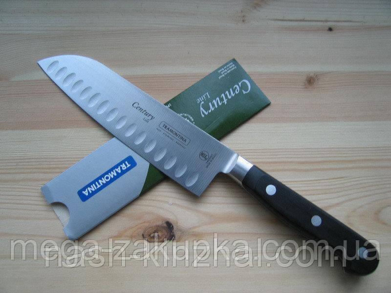 Элитный кухонный нож Сантоку Бразильского производства Tramontina, гарантия 25 лет, ОРИГИНАЛ