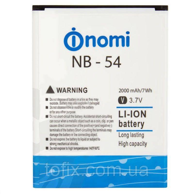 Аккумулятор (АКБ, батарея) NB-54 для Nomi i504 Dream, 2000 mAh, оригинал