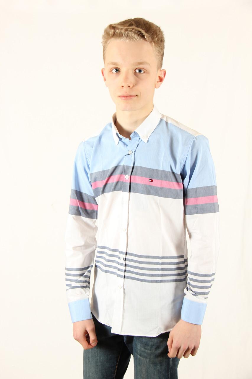 Рубаха мужская Tommy Hilfiger 0403406 светлый Размеры XXL