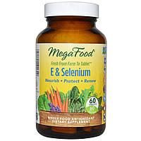 Селен с витамином Е (E + Selenium), MegaFood, 60 таблеток