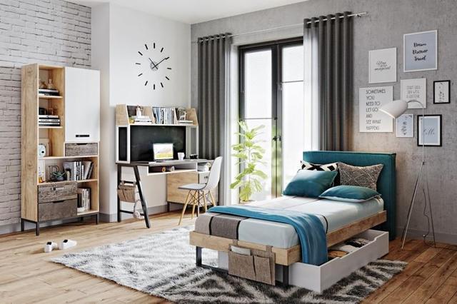 Кровать с мягким изголовьем G-11-5 в интерьере