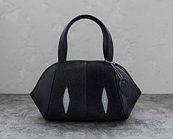 Сумка из кожи ската  Ekzotic Leather Черная (sb22)