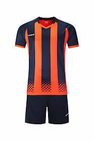 Футбольная форма Europaw 020 т.сине-оранжевая