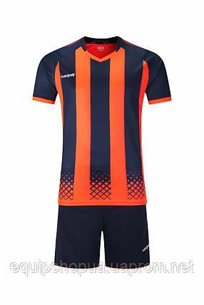 Футбольная форма Europaw 020 т.сине-оранжевая, фото 2