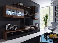 Стенка LOGO II (белый,бедл-черный,бело-фиолевовый, бело-бордовый,слива-черный, черный) (Cama)