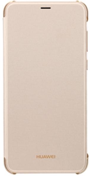Чехол для сматф. HUAWEI P Smart flip cover (Gold)