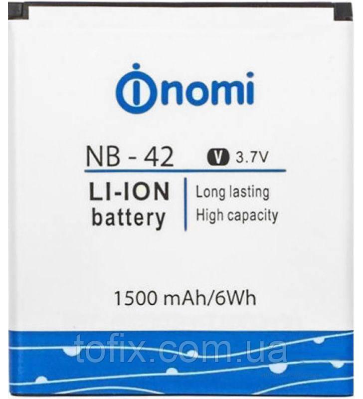 Аккумулятор (АКБ, батарея) NB-42 для Nomi i401 Colt, 1500 mAh, оригинал