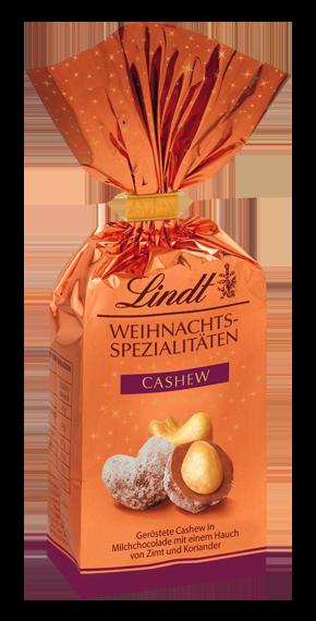 Орех кешью в молочном шоколаде Lindt Weihnachts-Spezialitäten Cashew