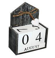 """Вечный календарь """"Сердечко"""" Размер: 13,5-18-7 см."""