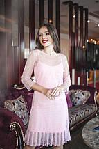 """Нарядное комбинированное платье-двойка """"LOLLA"""" с оборкой (2 цвета), фото 3"""