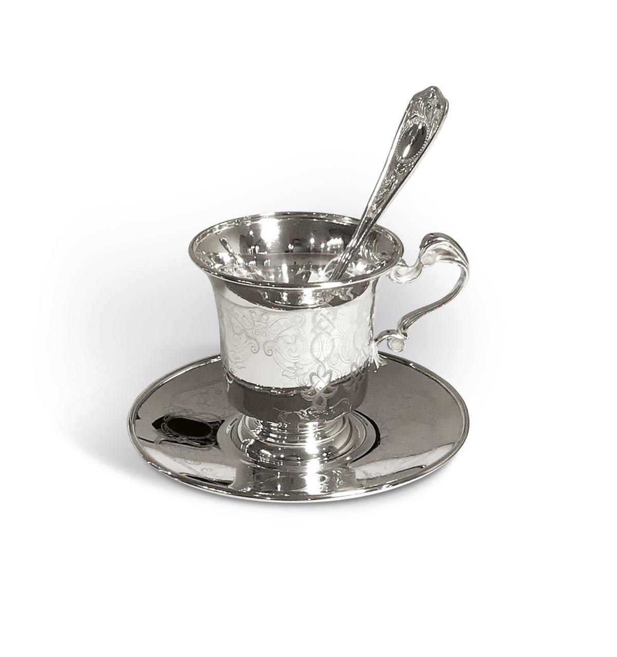 Кофейный серебряный набор на одну персону