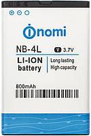 Аккумулятор (АКБ, батарея) NB-4L для Nomi i240, 800 mAh, оригинал