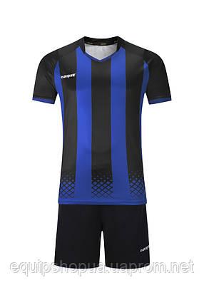 Футбольная форма Europaw 020 черно-синяя , фото 2