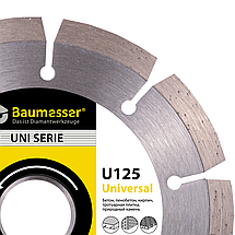 Круг алмазный отрезной 1A1RSS/C3-H 125x1,8/1,2x8x22,23-10 Baumesser Universal, фото 3