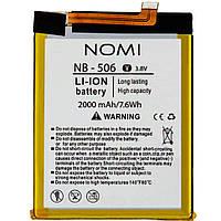 Аккумулятор (АКБ, батарея) NB-506 для Nomi i506 Shine, 2000mAh, оригинал