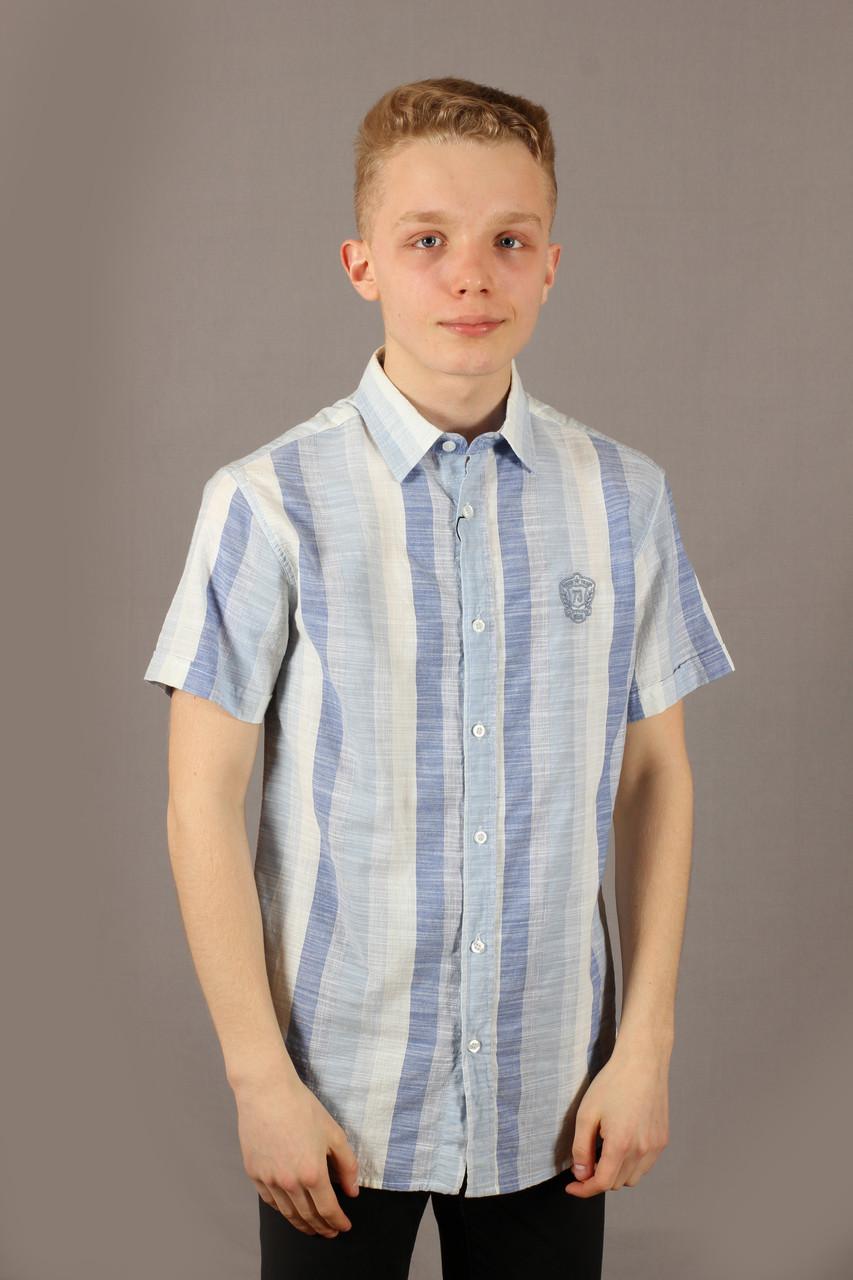 Рубаха мужская Danger Jeans 522 Blue Размеры M L XXL