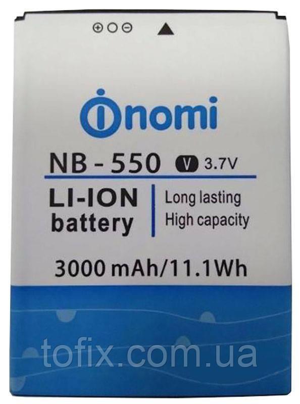 Аккумулятор (АКБ, батарея) NB-550 для Nomi i550 Space, 3000 mAh, оригинал