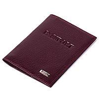 Обложка на паспорт Butun 147-004-002 кожаная бордовая, фото 1