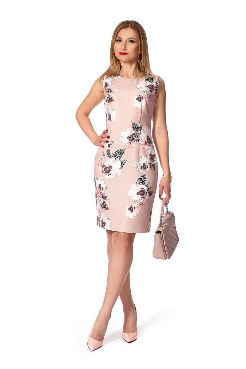 Платье летнее цветочный принт 1133