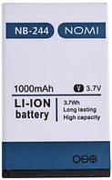 Аккумулятор (АКБ, батарея) NB-244 для Nomi i244, 1000mAh, оригинал