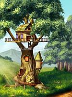 """Детские фотообои на стену """"Домик на дереве"""""""