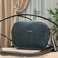 dff631bdf70a Женская сумочка ZARA из натуральной замши в разных цветах Код 3848