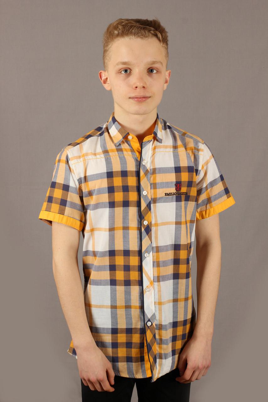 Рубаха мужская Emilio Sagezza SG003 Желтая Размеры S M
