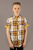 Рубаха мужская Emilio Sagezza SG003 Желтая Размеры S M, фото 1