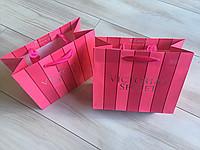 Подарочный пакет маленький Victoria's Secret р.S (19см.х16см.х9см)