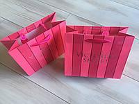 Подарочный пакет маленький Victoria's Secret р.S (19см.х16см.х9см), фото 1