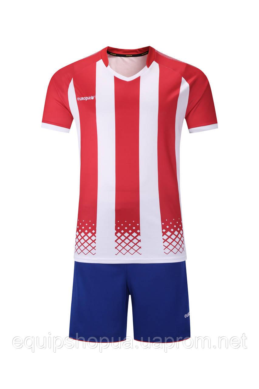 Футбольная форма Europaw 020 красно-белая