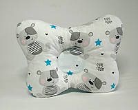 Детская ортопедическая подушка для лечения и профилактики кривошеи у младенцев Тедди Мишка