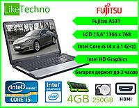 "Ноутбук Fujitsu A531 15.6"" Core i5/DDR3 4GB/HDD 250GB/Батарея 3 часа"