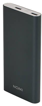 Внешний аккумулятор Power Bank Nomi E100 10000mAh Grey Гарантия 12 месяцев, фото 2
