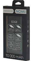 Внешний аккумулятор Power Bank Nomi E100 10000mAh Grey Гарантия 12 месяцев, фото 3