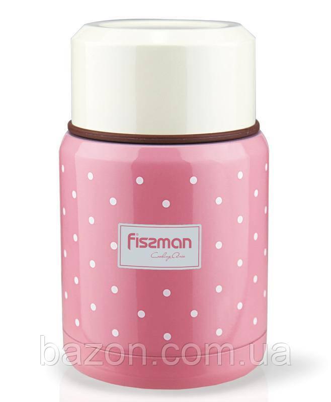 """Термос пищевой Fissman """"Cooking area"""" 350мл розового цвета"""