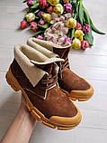 Повседневные демисезонные замшевые ботинки LookLike (разные цвета), фото 4
