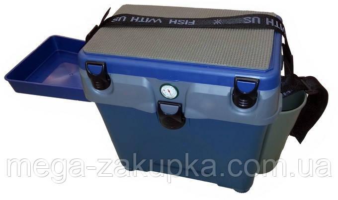 Ящик для зимней рыбалки с термометром A-elita, очень теплый верх