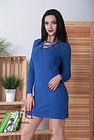 Короткое платье со шнуровкой на декольте