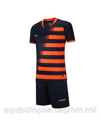 Футбольная форма Europaw 021 т.сине-оранжевая , фото 2