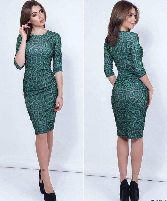 a9c986d310c Трендовое силуэтное платье с леопардовым принтом. 7 цветов! -  Интернет-магазин