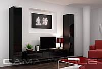 Стенка VIGO 4 (серый, бело-черный, черный, белый, латтэ-белый, серо-белый, бело-серый,черно-белый )(CAMA)