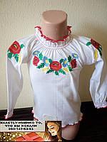 Вышиванка для девочки длинный рукав 2-3 года