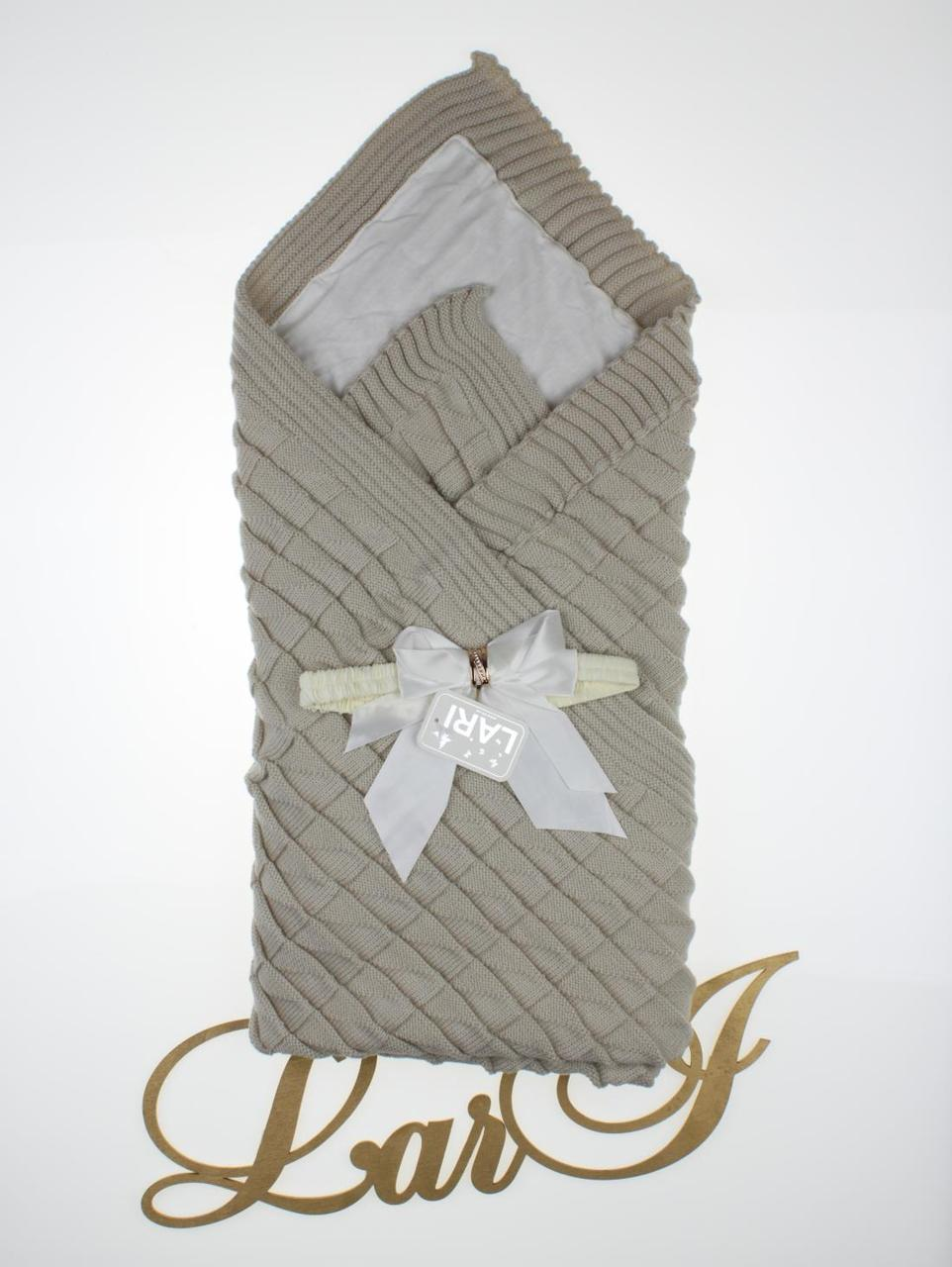 "Демисезонный конверт-плед ""Лапушка"", серый"