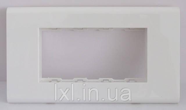 SIRIUS white Рамка 4 модуля 45*22,5. Итальянский тип